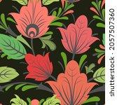 summer vegetable seamless...   Shutterstock .eps vector #2057507360