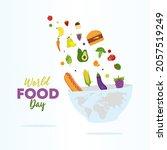 world food day illustration... | Shutterstock .eps vector #2057519249
