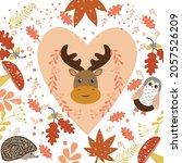 vector hand drawn seasonal... | Shutterstock .eps vector #2057526209