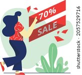 70  sale concept  perfect for... | Shutterstock .eps vector #2057529716
