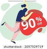 sale  90  off  concept  perfect ... | Shutterstock .eps vector #2057529719