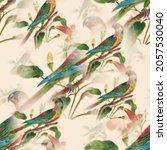 abstract cute birds pattern... | Shutterstock .eps vector #2057530040