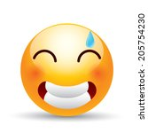 embarrassed expression symbol   Shutterstock .eps vector #205754230