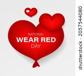 national wear red day. red... | Shutterstock .eps vector #2057544080