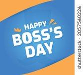 national boss day banner... | Shutterstock .eps vector #2057560226