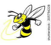 Bee Team Mascot - stock vector