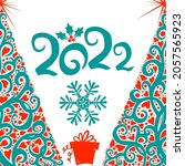 abstract beautiful christmas... | Shutterstock .eps vector #2057565923
