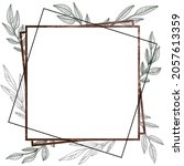 square frame with plants. the... | Shutterstock .eps vector #2057613359