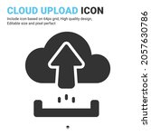 cloud upload icon vector with...