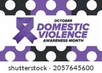 domestic violence awareness... | Shutterstock .eps vector #2057645600