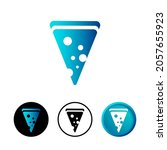 abstract pizza slice icon...