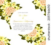 wedding invitation cards with... | Shutterstock .eps vector #205766650