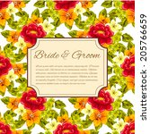 wedding invitation cards with... | Shutterstock .eps vector #205766659