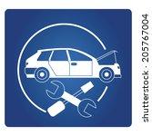 car service  garage sign   Shutterstock .eps vector #205767004