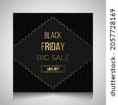 black friday sale banner ... | Shutterstock .eps vector #2057728169