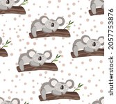 seamless pattern with cute... | Shutterstock .eps vector #2057753876