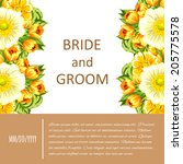 wedding invitation cards with... | Shutterstock .eps vector #205775578
