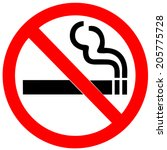 No smoking sign on white background