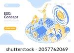 esg concept of environmental ... | Shutterstock .eps vector #2057762069