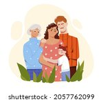 smiling mother  father ... | Shutterstock .eps vector #2057762099