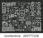 doodle internet web background | Shutterstock .eps vector #205777228