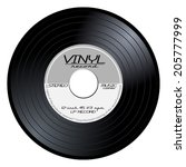 Black Vintage 45 Rpm Vinyl...