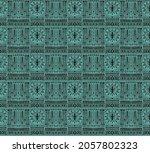 ikat geometric folklore... | Shutterstock .eps vector #2057802323
