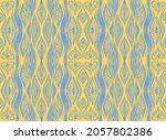 ikat geometric folklore... | Shutterstock .eps vector #2057802386