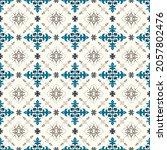 ikat geometric folklore... | Shutterstock .eps vector #2057802476