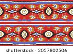 ikat geometric folklore... | Shutterstock .eps vector #2057802506