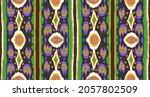 ikat geometric folklore... | Shutterstock .eps vector #2057802509