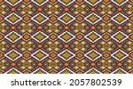ikat geometric folklore... | Shutterstock .eps vector #2057802539