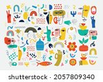 big set of different colored... | Shutterstock .eps vector #2057809340