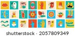big set of different colored... | Shutterstock .eps vector #2057809349