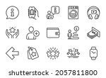 business icons set. included... | Shutterstock .eps vector #2057811800