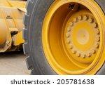 yellow wheel on tractor