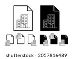 building vector icon in file...