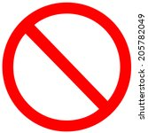 no sign. vector on white... | Shutterstock .eps vector #205782049