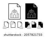 silo vector icon in file set...