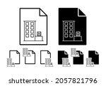 kiosk vector icon in file set...
