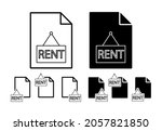 rent vector icon in file set...