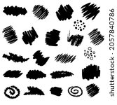 hand drawn collection of spots... | Shutterstock .eps vector #2057840786
