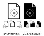 florist sign vector icon in...