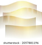 design elements. wave of many... | Shutterstock .eps vector #2057881196
