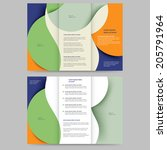 abstract colored brochure... | Shutterstock .eps vector #205791964