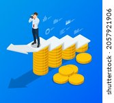 isometric concept of business... | Shutterstock .eps vector #2057921906