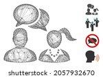 vector net people dating chat.... | Shutterstock .eps vector #2057932670