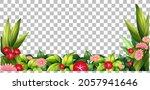 nature plants frame transparent ... | Shutterstock .eps vector #2057941646