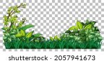 grass and plants on transparent ... | Shutterstock .eps vector #2057941673