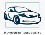 auto club car blue vector rides ... | Shutterstock .eps vector #2057948759